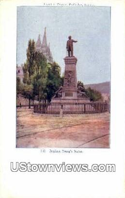 Brigham Young's Statue - Salt Lake City, Utah UT Postcard