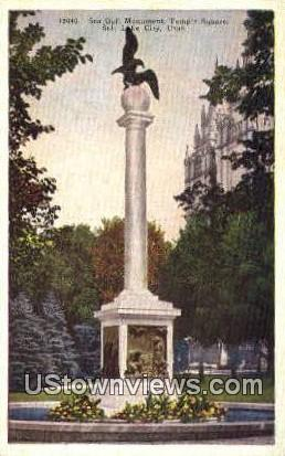 Sea Gull Monument, Temple Square - Salt Lake City, Utah UT Postcard