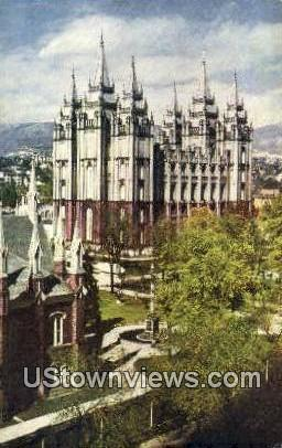 Temple Court - Salt Lake City, Utah UT Postcard