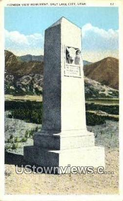 Pioneer View Monument - Salt Lake City, Utah UT Postcard