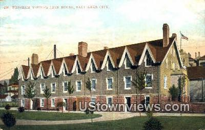 Brigham Young's Lion House - Salt Lake City, Utah UT Postcard