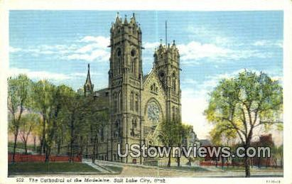 Cathedral of the Madeleine - Salt Lake City, Utah UT Postcard