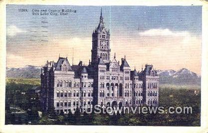 City & County Bldg - Salt Lake City, Utah UT Postcard