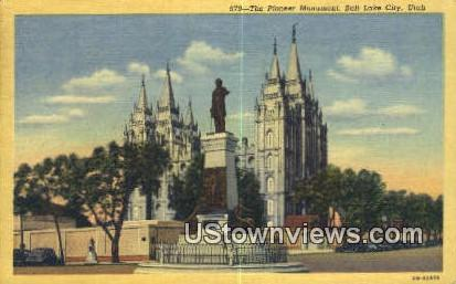 Pioneer Monument - Salt Lake City, Utah UT Postcard