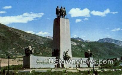 This is the Place Monument - Salt Lake City, Utah UT Postcard