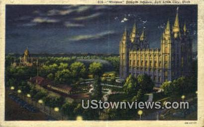Mormon Temple Square - Salt Lake City, Utah UT Postcard