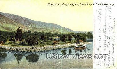 Pleasure Island - Salt Lake City, Utah UT Postcard