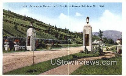 Memory Park, City Creek Canyon - Salt Lake City, Utah UT Postcard