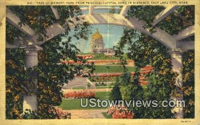 Memory Park, Capitol - Salt Lake City, Utah UT Postcard