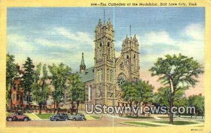 Cathedral of the Madeleine - Salt Lake City, Utah UT Postcard