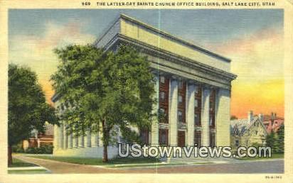 Latter Day Saints Church Office Bldg - Salt Lake City, Utah UT Postcard