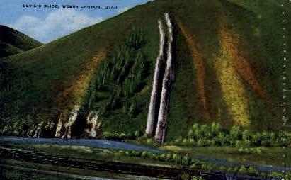Devil's Slide - Weber Canyon, Utah UT Postcard
