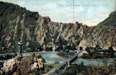 Tunnel Number 3 - Weber Canyon, Utah UT Postcard