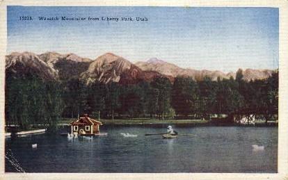 Liberty Park - Wasatch Mountains, Utah UT Postcard