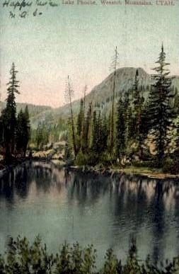 Lake Phoebe - Wasatch Mountains, Utah UT Postcard