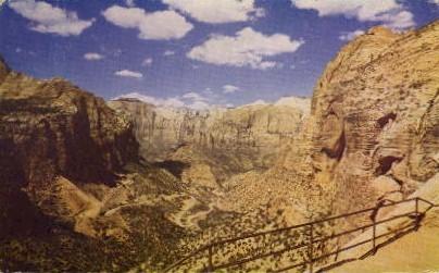 Mt. Carmel Highway - Zion National Park, Utah UT Postcard
