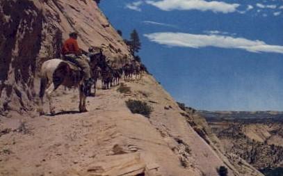 West Rim Trail - Zion National Park, Utah UT Postcard