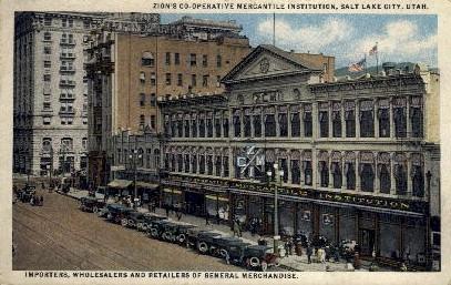 Mercantile Insitiution - Salt Lake City, Utah UT Postcard