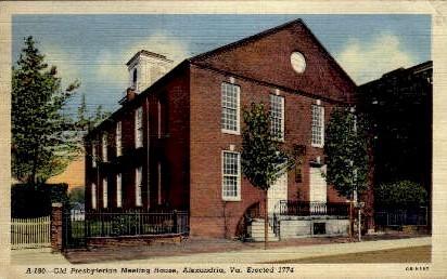 Old Presbyterian Meeting House - Alexandria, Virginia VA Postcard