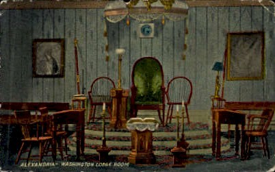 Washington Lodge Room - Alexandria, Virginia VA Postcard