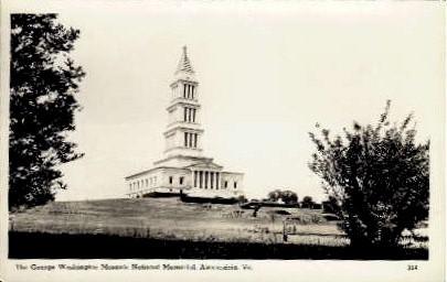 Masonic National Memorial - Alexandria, Virginia VA Postcard
