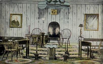 Interior of Old Lodge  - Alexandria, Virginia VA Postcard