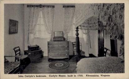 John Carlyle's Bedroom - Alexandria, Virginia VA Postcard