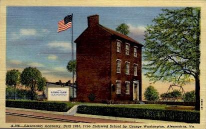 Alexandria Academy - Virginia VA Postcard