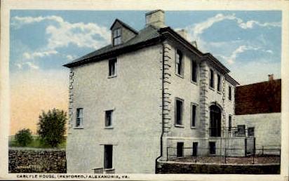 Carlyle House - Alexandria, Virginia VA Postcard