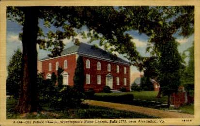 Old Pohik Church  - Alexandria, Virginia VA Postcard