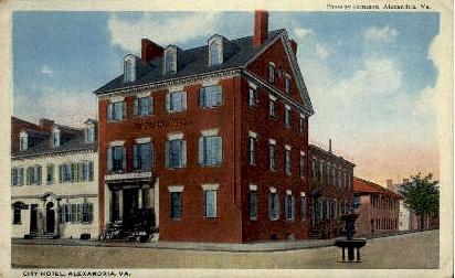 City Hotel - Alexandria, Virginia VA Postcard