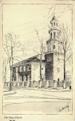 Old Christ Church - Alexandria, Virginia VA Postcard