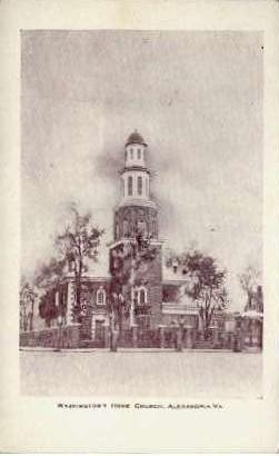 Washington's Home Church - Alexandria, Virginia VA Postcard