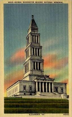 National Memorial - Alexandria, Virginia VA Postcard
