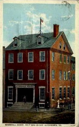 Marshall House - Alexandria, Virginia VA Postcard