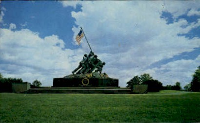 U.S. Marine Corps War Memorial - Arlington, Virginia VA Postcard