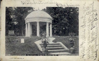 Memorial Garden - Arlington, Virginia VA Postcard