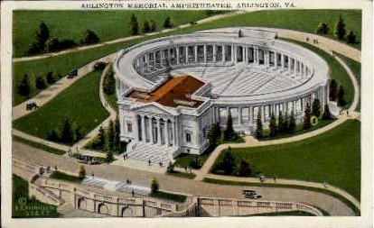 Arlington Memorial Amphitheater - Virginia VA Postcard