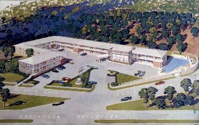 Iwo Jima Motor Hotel - Arlington, Virginia VA Postcard