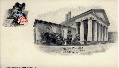 General Robert E. Lee's Old Home - Arlington, Virginia VA Postcard