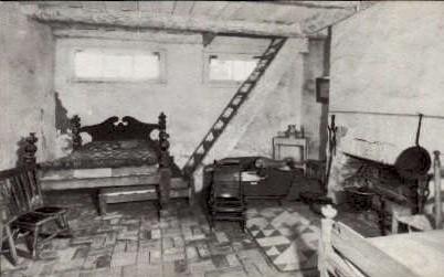 Slave Quarters in Lee Mansion - Arlington, Virginia VA Postcard