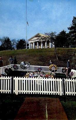 Grave of President John F. Kennedy - Arlington, Virginia VA Postcard