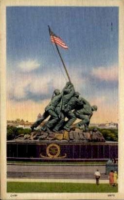 Iwo Jima Statue - Arlington, Virginia VA Postcard