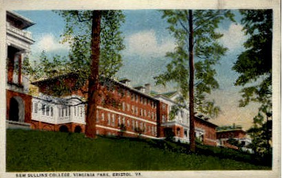 New Sullins College, Virginia Park - Bristol Postcard