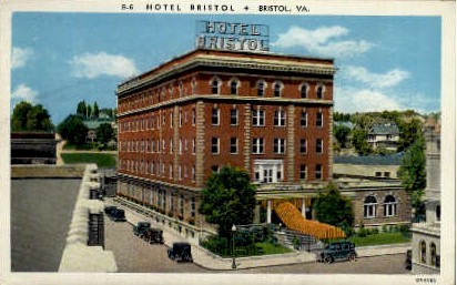 Hotel Bristol - Virginia VA Postcard