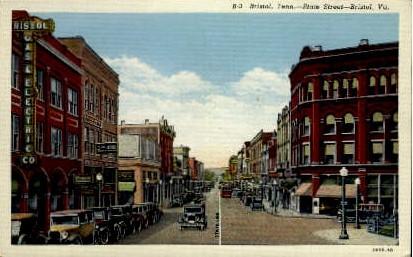 State Street - Bristol, Virginia VA Postcard