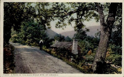 Blue Ridge Mountains - Blue Ridge Parkway, Virginia VA Postcard