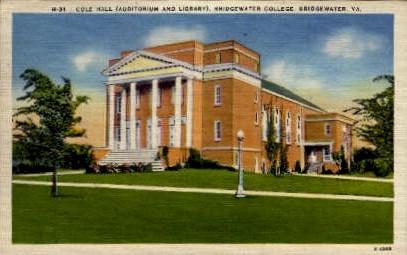 Bridgewater College - Virginia VA Postcard