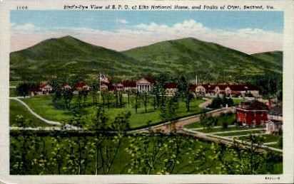 B. P. O. of Elks National Home - Bedford, Virginia VA Postcard
