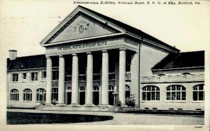 B. P. O. of Elks - Bedford, Virginia VA Postcard